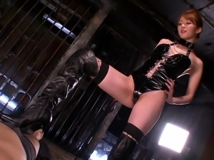 I simply adore Miku Ohashi. This hot Asian milf loves to wear latex clothes...