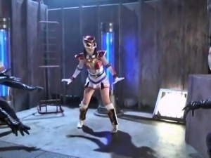 Pretty Japanese teen in a funny costume is made to cum hard
