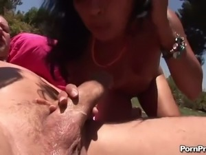 big load facial cumshot for mia lelani and friend in outdoors threesome
