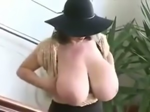 Quite the sexy woman she is and those huge tits are worth salivating over