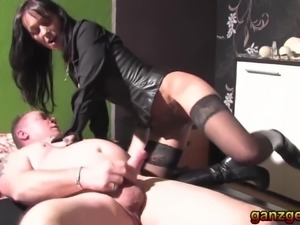 Brunette German swinger lady is kinky and horny to fuck