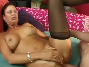 Bold 54 yo housewife Vanessa Videl gets her asshole drilled well