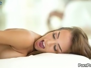 Horn-mad buddy is happy to enjoy steamy morning sex with Charity Crawford