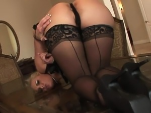 Big booty blonde gets blacked hard