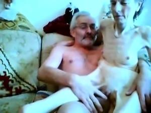 Guy with small penis fucks granny