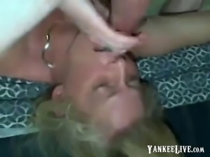 unbelievable mouth fuck by granny