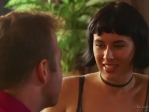 Busty brunette housewife Olive Glass is actually for giving a good BJ in 69