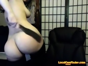 Webcam self spanking