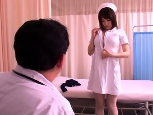Voluptuous Japanese nurse wants to fuck a throbbing pole