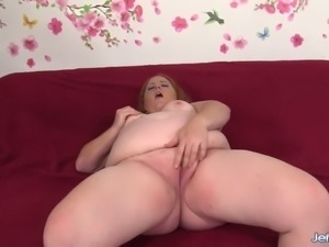 Messy red haired nympho Scarlet Raven gets her meaty cunt fucked mish