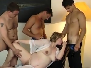 Lucky guys get to bang pregnant babe