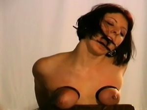 Fetish play leads to naughty tit castigation xxx moments