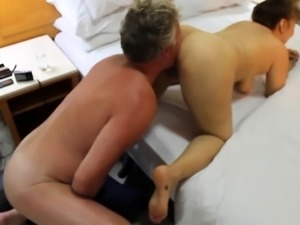 Curvy mature wife gets pumped full of hard meat from behind