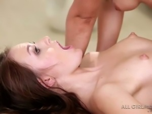Lovely looking babe Scarlett Sage is so into massaging charming hot girlie