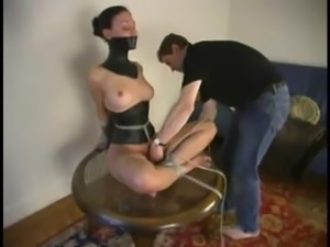 Bound Isabelle gets whipped and toyed rough by her master