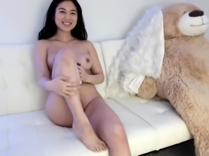 Japanese black girl toys masturbation