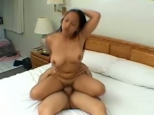 This Asian chick is genuinely a dirty bitch and she likes to be on top