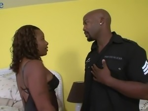 Incredibly voracious dark skinned Sani is awesome housewife who thirsts for sex