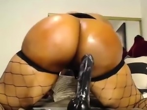 Succulent Brunette Solo Ass Toying