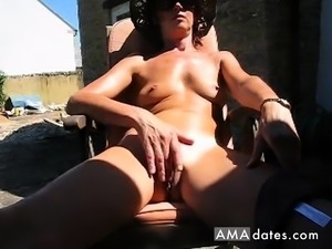 English mature films herself wanking in backyard
