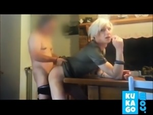 Tranny fucked while smoking