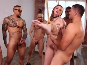helpless maya kendrick in interracial gang bang
