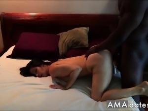 Black Bull Making Yoga Hotwife Beg and Orgasm
