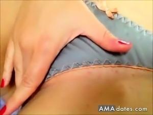 Soaking Wet Satin Panty Masturbation