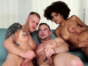 Bisex dudes jerking off