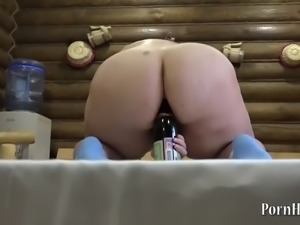 anal with a bottle, bbw irina!
