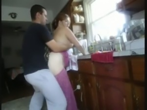 brunette wife fucked in kitchen-part2 on webgirlsoncam. com