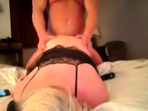 Slutty amateur blonde loves to get drilled rough from behind