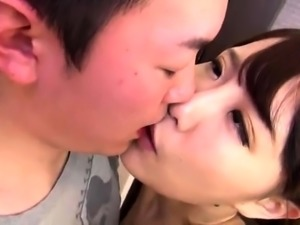 Petite Oriental wife gets her hairy peach licked and drilled