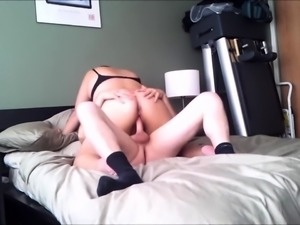 Insatiable milf with a lovely ass rides a cock on hidden cam