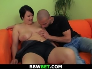 Plump babe is picked up and doggy-fucked