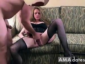 Amateur milf's threesome