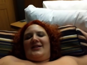 Redhead Rides Fat Cock As Her Boobs Bounce