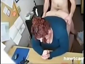 Chubby Redhead Gets Her Hole Filled at the Office
