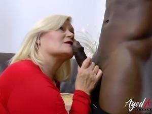 AgedLovE Mature Lacey Starr Fucks Handy Black Guy