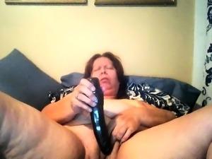 BBW mature masturbation
