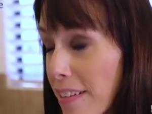 MILFie nympho with saggy boobies Alana Cruise gives a good blowjob