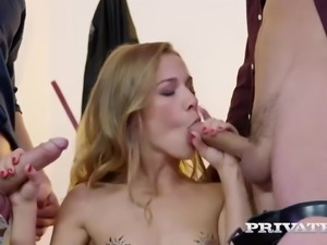 Hardcore DP with Alexis Crystal