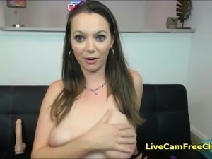 Horny Babe With Big Tits is Fucking Like Crazy With Dildo To