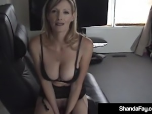 Sexy Canadian Cougar Shanda Fay Gets Anal Banged & Creampied