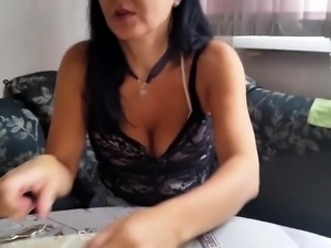 Stacked Russian mom with sexy legs is craving for young meat