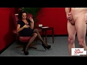 MILF voyeur instructing her submissive