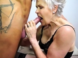 British mature Lady Sextasy doing her toyboy