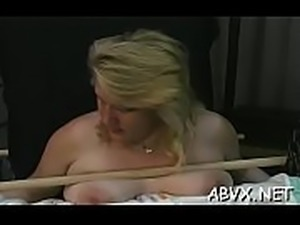Nude woman spanking video with bizarre thraldom