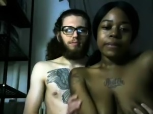 Ebony amateur interracial pov