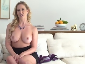 Awesome big bottomed MILF Cherie Deville is crazy about riding stiff dick